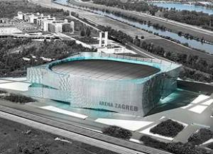 Arena Zagreb, venue for EURO 2014 and Croatian team photo:zagreb-touristinfo.hr