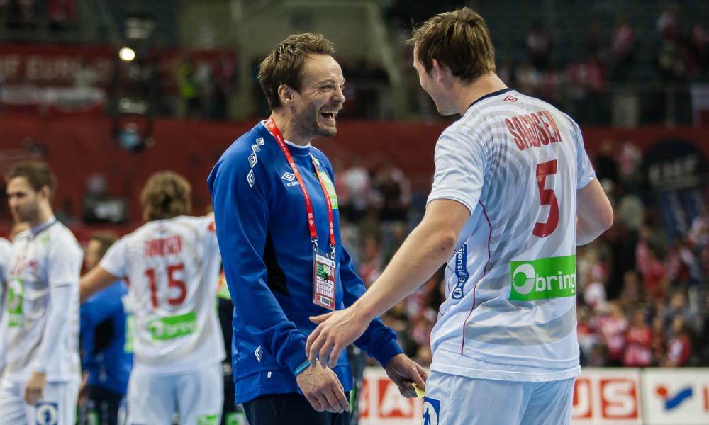 Christian Berge with Sander Sagosen, Norway | Photo: Bjørn Kenneth Muggerud