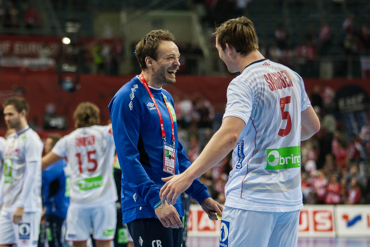 Christian Berge with Sander Sagosen, Norway | Photo: Bjørn Kenneth Muggerud