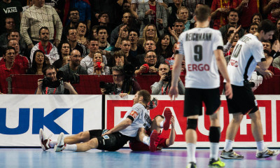 Steffen Weinhold, Germany gets injured in the match vs Russia | Photo: Bjørn Kenneth Muggerud