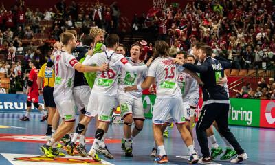 Norway celebrating