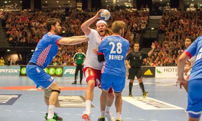 Mikkel Hansen, Denmark, against Croatia in the Olympic Games qulsificton 2016 in Herning Denmark | Photo: Bjørn Kenneth Muggerud