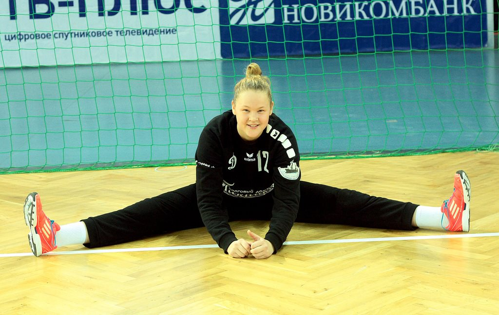 Kira Trusova, goalkeeper, photo: HC Astrakhanochka