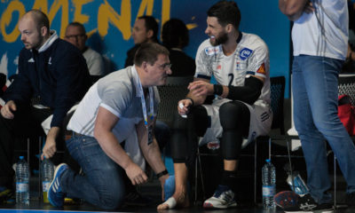 Luka Karabatic injured with torn ligaments in the right ankle. | Photo: Bjørn Kenneth Muggerud