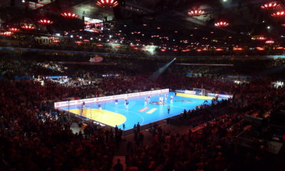 28.000 spectators are a new world record on a handball match. The record were sat during the World Championships between France and Iceland in Lille | Photo: Daniel Genings